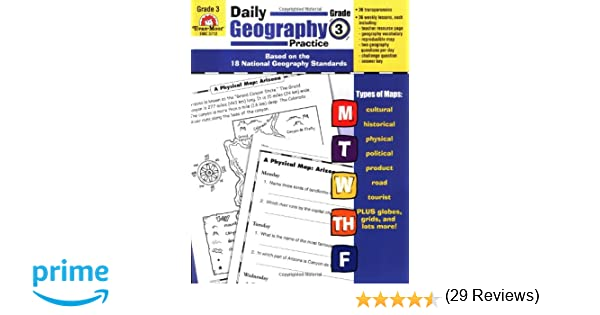 Workbook first grade worksheets pdf : Daily Geography Practice, Grade 3: Evan-Moor Educational ...