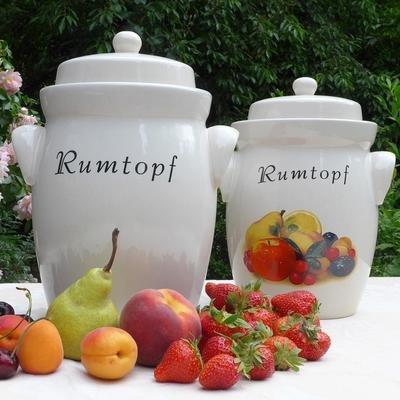 Rumtopf, Gärtopf,5 Liter,Creme ohne Dekor
