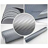 4,5€/m² Auto Folie 3D Carbon Folie - SILBER - 100 x 152 cm BLASENFREI selbstklebend flexibel Car Wrapping