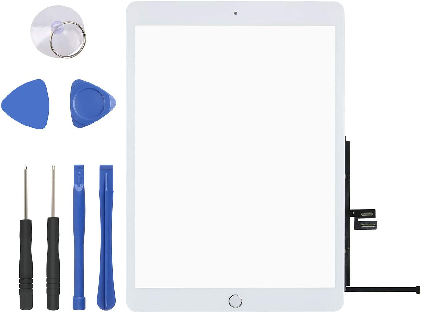 """Touch Screen Digitizer for iPad 7th Generation – iPad 10.2"""" 2019 Front Glass Replacement with Home Button & Tool Repair Kit (A2197 & A2198 & A2200)"""