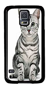 Samsung S5 case indestructible Cute Cat PC Black Custom Samsung Galaxy S5 Case Cover