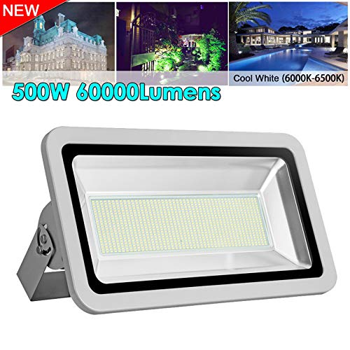 500W Led Floodlight,Led Exterior Flood Lights,Led spotlights Getseason Daylight White Outdoor and Indoor IP65 Waterproof Security Light for Garage, Garden, Lawn and -