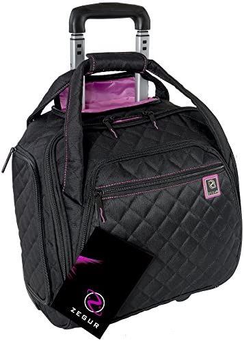 ZEGUR Quilted Rolling Underseat Luggage product image