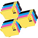 3 Set of 4 Inkfirst 220XL 220XL Ink Cartridges T220XL1, T220XL2, T220XL3, T220XL4 Compatible Remanufactured for Epson 220XL Black, 220XL Cyan, 220XL Magenta, 220XL Yellow (High Capacity) Expression XP-320 XP420 XP424 WorkForce WF-2630 WF-2650 WF-2660