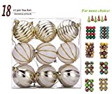 Our ornaments are of high quality and 100% quality guarantee. We dedicat to supplying the best products and services to your satisfaction! Packing List: 18 Pcs Christmas Ball Hanging Ornament