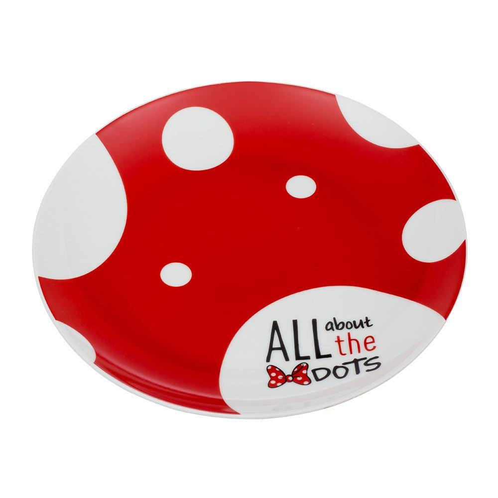 Disney Mickey Mouse 4 Pc. 10 In. Ceramic Plate Set Vandor 89337 Accessory Consumer Accessories