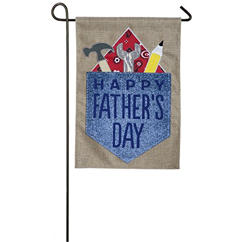 Evergreen Happy Father's Day Outdoor Safe Double-Sided Burlap Garden Flag, 12.5 x 18 inches Review