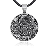 Dan's Jewelers Maya Mayan Calendar Pendant Necklace, Fine Pewter Jewelry