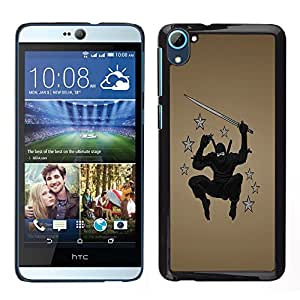 LECELL--Funda protectora / Cubierta / Piel For HTC Desire D826 -- Ninja Star Warrior --