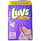 Health & Personal Care : Luvs Ultra Leakguards Diapers with Night Lock, Size N 40 ea (Pack of 4)