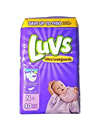 Luvs Stretch with Size N Ultra Leakguards Diapers, 40 count per pack -- 4 per case. BOBEBE Online Baby Store From New York to Miami and Los Angeles