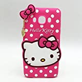 Mobiclonics Cute Hello Kitty Back Case Cover For Samsung Galaxy Core Prime (G360H) - Pink