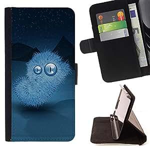 BullDog Case - FOR/Samsung Galaxy S4 Mini i9190 / - / Winter nights Monster /- Monedero de cuero de la PU Llevar cubierta de la caja con el ID Credit Card Slots Flip funda de cuer