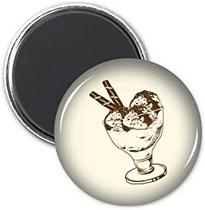 Brown Chocolate Bar Ice Glass Cream Ball Refrigerator Magnet Sticker Decoration Badge Gift