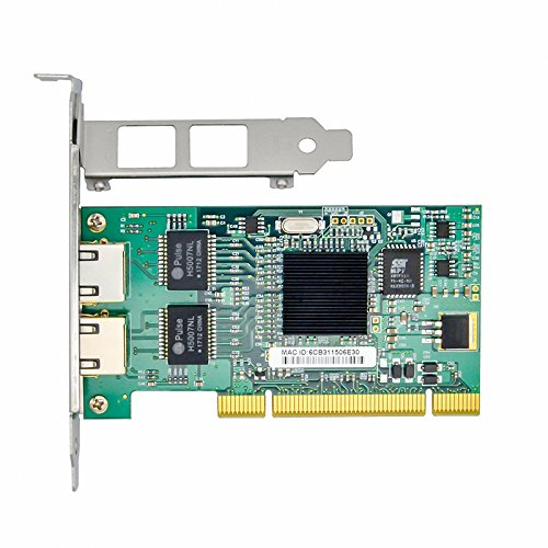 Jeirdus with Intel Chipset 82546 Dual Port Gigabit 8492MT PCI Server Network Card 1000M RJ45 NIC Ethernet Desktop Adapter by Jeirdus