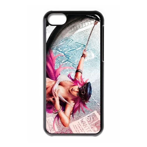 Street Fighter Iv 7 coque iPhone 5c cellulaire cas coque de téléphone cas téléphone cellulaire noir couvercle EEECBCAAN02587