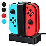 Nintendo Switch Joy-Cons Charging Dock, Vorida Charge Stand With Indicator Light Thumb Stick Caps for Nintendo Switch Review