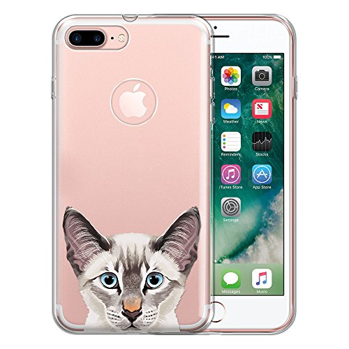 - FINCIBO Case Compatible with Apple iPhone 7 Plus/iPhone 8 Plus, Clear Transparent TPU Protector Case Cover Soft Gel for iPhone 7 Plus / 8 Plus (NOT FIT iPhone 7/8) - Lynx Point Lilac Siamese Cat