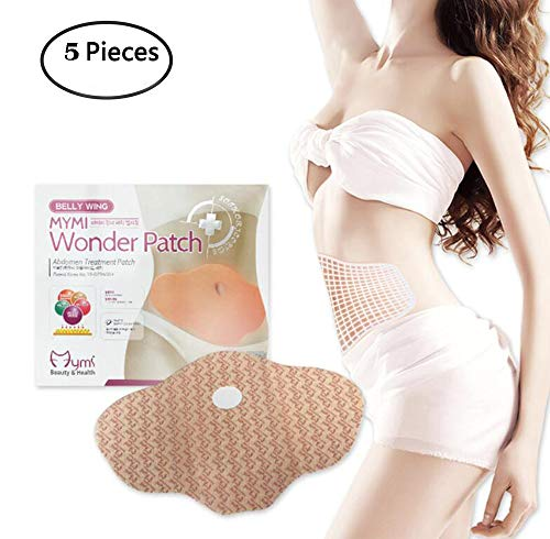 Fencia Belly Slimming Wonder Patch, Slim Patches Abdomen Treatment Weight Loss Fat Burner -Natural Slimming Diet Fat Belly Wing Wonder Treatment Anti-Obesity Slimming Patches (5pcs/1 pack)
