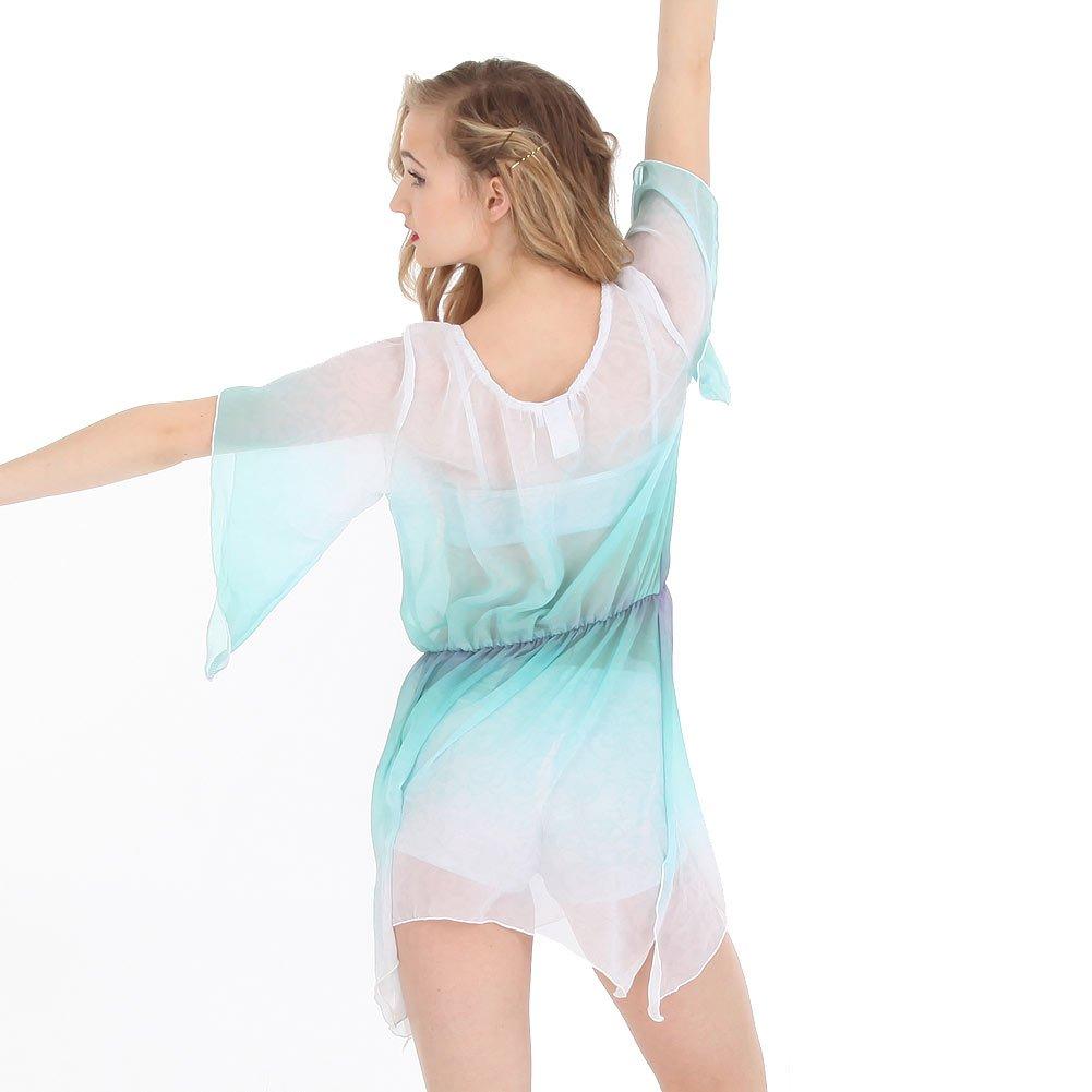 19de4d1c5ebd Amazon.com: Alexandra Collection Womens Lace Watercolor Lyrical Dance  Costume Overdress: Clothing