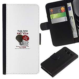 All Phone Most Case / Oferta Especial Cáscara Funda de cuero Monedero Cubierta de proteccion Caso / Wallet Case for Samsung Galaxy S3 III I9300 // light bulb on sale