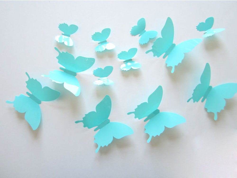 Amazon Com Ufengke 12 Pcs 3d Butterflies Wall Stickers