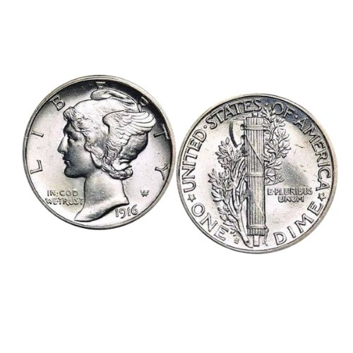 American Coin Treasures Silver Mercury Dime Coin Cuff Links (Sterling Silver Dime Mercury)
