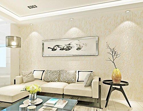 (CNMDGBWY Modern Home Background Decorative Wallpaper Plain Color Relief Creamy White Para Quarto Wallpaper Roll 53Cmx9.5M)