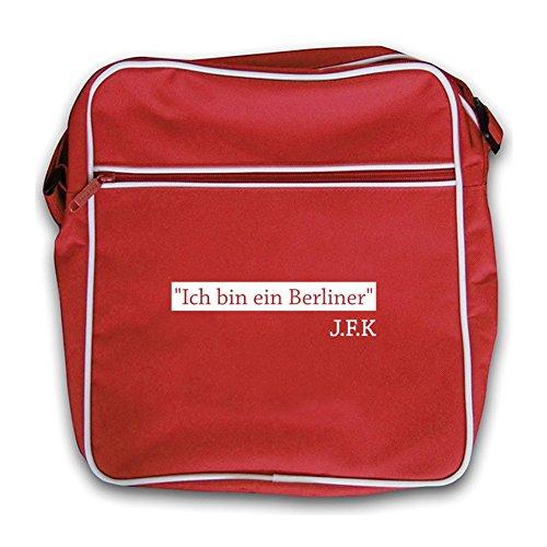 Ich Bin Ein Berliner - Retro Flight Bag-Red