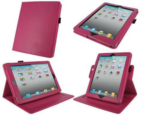 roocase-dual-axis-genuine-magenta-leather-case-for-4th-generation-ipad-with-retina-display-the-new-i