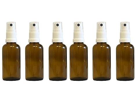 Efecto de farmacia vaporizador de pulverizador de cristal marrón (6 piezas, Capacidad 50 ml