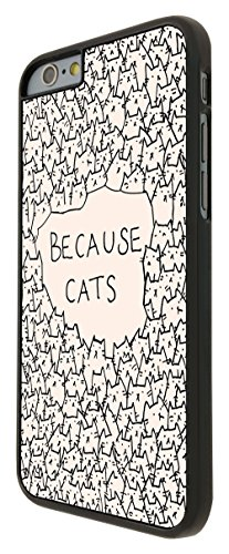 552 - Because Cats Collage Sketch Multi Cats Cute Funky Design iphone 6 6S 4.7'' Hülle Fashion Trend Case Back Cover Metall und Kunststoff - Schwarz