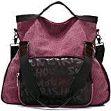 Sanxiner Unisex Canvas Travel bag Shoulder Bag Large Crossbody handbags