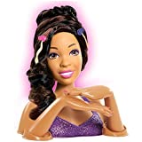 African American Cut Color Style Styling Head Doll For Pretend Beauty Styling Salon by Barbie