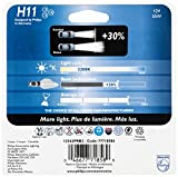 Philips H11 Vision Upgrade Headlight Bulb, 2 Pack