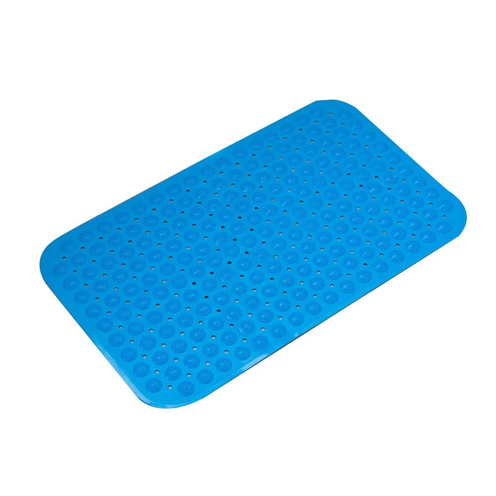 Bath Mat,Kids' Bath Rugs Bath Mat Rug Non-Slip Mat Take A Shower Bathing Bathtub WC Waterproof Foot Cushion Household Carpet Door Mat WEIYV (Color : Blue, Size : 8080cm)