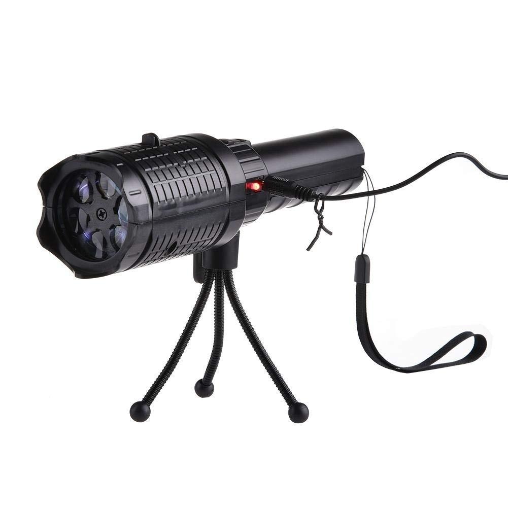 LED Flashlight Christmas Landscape Projector Lamp 12 Slide ABS Plastic Film Lamp(Black)