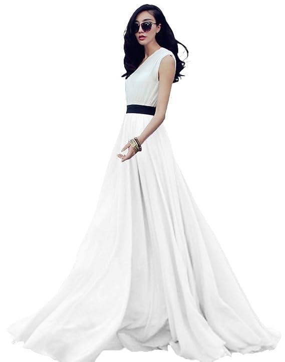 Falda larga elegante plisada de cintura alta para baile, fiesta, y boda.