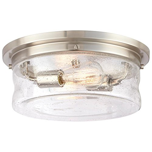 Home Decorators Collection 2-Light Brushed Nickel Flushmount