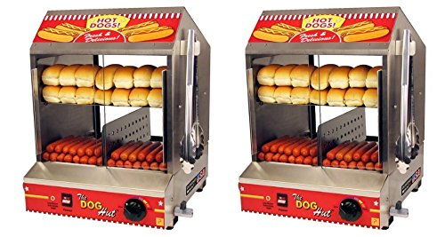 Paragon Hot Dog Hut Steamer Merchandiser for Professional Concessionaires Requiring Commercial Quality & Construction (2 PACK) by Paragon