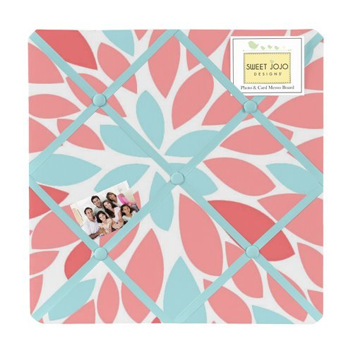 Fabric Memory/Memo Photo Bulletin Board for Turquoise and - Memo Photo Bulletin Board