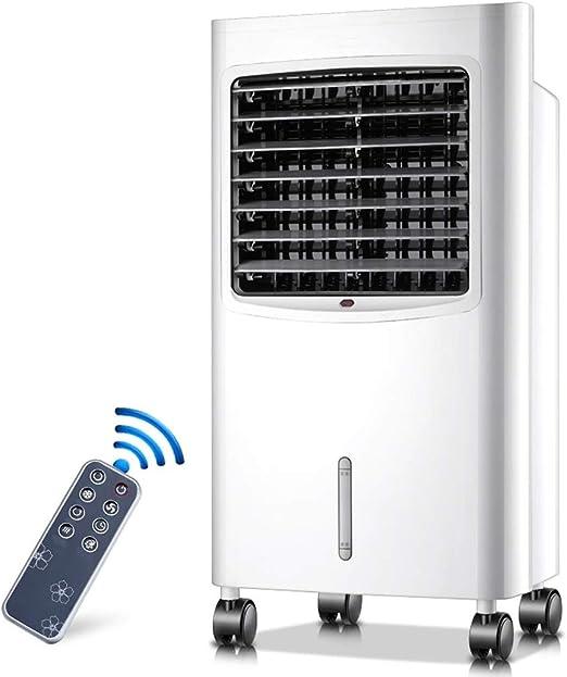 Climatizador Evaporativo,Climatizador Portátil, Refrigerador de aire evaporativo portátil, calentador, con control remoto, 3 velocidades de ventilador, temporizador de 7.5 horas y tanque de agua de 8: Amazon.es: Hogar
