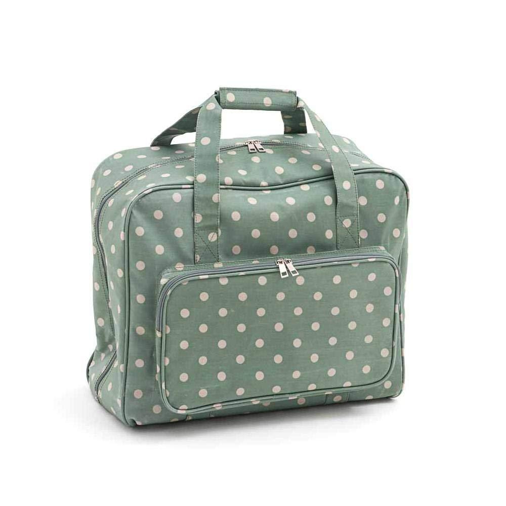 Borsa per macchina da cucire (Matt PVC)–Moss pois | hobby Gift MR4660/264| 20x 43x 37cm HobbyGift MR4660\264