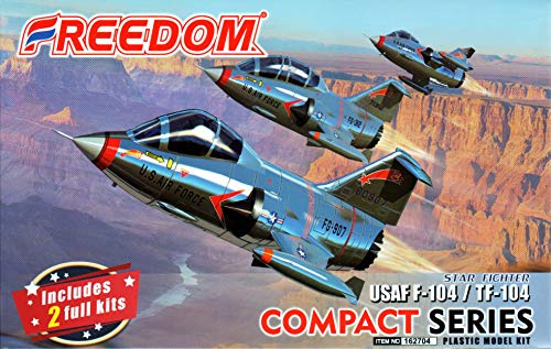 FMK162704 Freedom Model Kits Compact Series - USAF F-104 TF-104 Starfighter [2 Kits] [Model Building KIT] ()