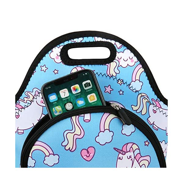 Neoprene Lunch Bag Reusable Tote Bag Insulated Lunch Box Adult Large Lunch Tote Handbag Fordable for Men & Women, Boys & Girls, 4