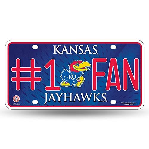 NCAA Kansas Jayhawks #1 Fan Metal License Plate Tag