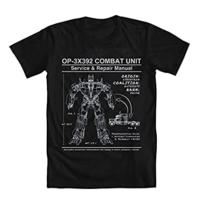 Transformers Optimus Prime Manual Men's T-Shirt