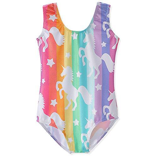 - Gymnastics Leotards for Girls 4t 5t Unicorn Rainbow Girl Shiny Unitards