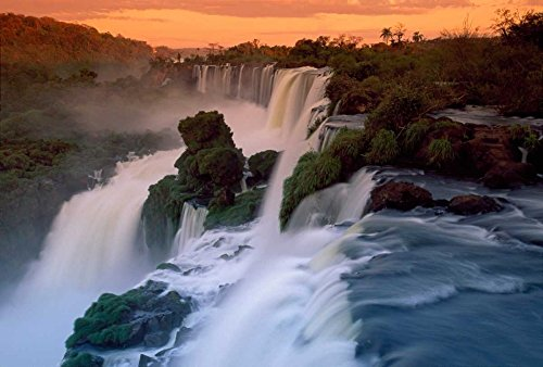 National Iguacu Park - Cascades of the Iguacu Falls the worlds largest waterfalls Iguacu National Park Argentina Poster Print by Thomas Marent (20 x 28)