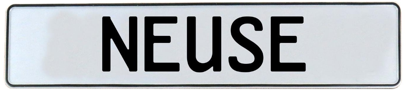 Vintage Parts 716317 Wall Art Neuse White Stamped Aluminum Street Sign Mancave